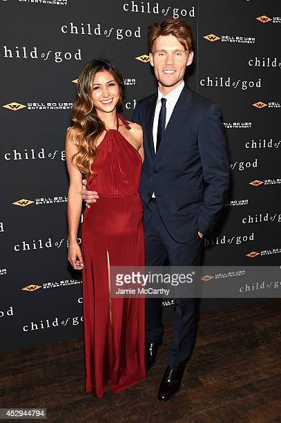 Elissa Shay and actor Scott Haze attend the 'Child Of God' premiere at Tribeca Grand Hotel on July 30 2014 in New York City