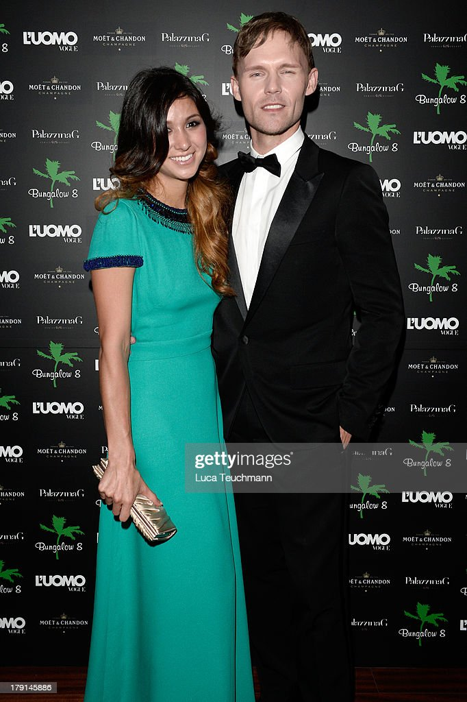 Elissa Shay and actor Scott Haze attends Bungalow 8 James Franco Venice Film Festival Premiere Party for Child of God and Palo Alto during the 70th...