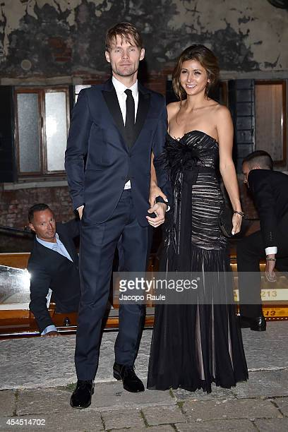 Elissa Shay and Scott Haze are seen during The 71st Venice International Film Festival on September 2 2014 in Venice Italy