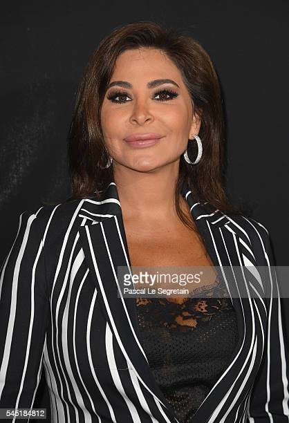 Elissar Zakaria Khoury aka Elissa attends the Elie Saab Haute Couture Fall/Winter 20162017 show as part of Paris Fashion Week on July 6 2016 in Paris...