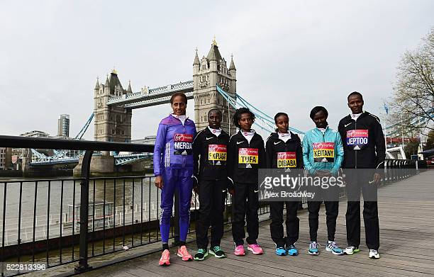 Elite women competitors Aselefech Mergia of Ethiopia Florence Kiplagat of Kenya Tigist Tufa of Ethiopia Mare Dibaba of Ethiopia Mary Keitany of Kenya...
