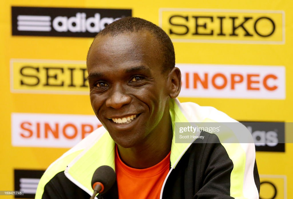 <a gi-track='captionPersonalityLinkClicked' href=/galleries/search?phrase=Eliud+Kipchoge&family=editorial&specificpeople=586946 ng-click='$event.stopPropagation()'>Eliud Kipchoge</a> of Kenya during a press conference ahead of the 20th IAAF World Half Marathon on October 5, 2012 in Kavarna, Bulgaria.