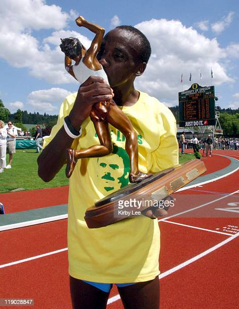 Eliude Kipchoge won the men's two miles in meet and stadium record 80768 in the 31st Prefontaine Classic at the University of Oregon's Hayward Field...