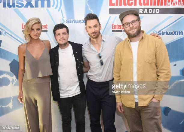 Eliza Coupe Josh Hutcherson Derek Wilson and Seth Rogen attend SiriusXM's Entertainment Weekly Radio Channel Broadcasts From Comic Con 2017 at Hard...