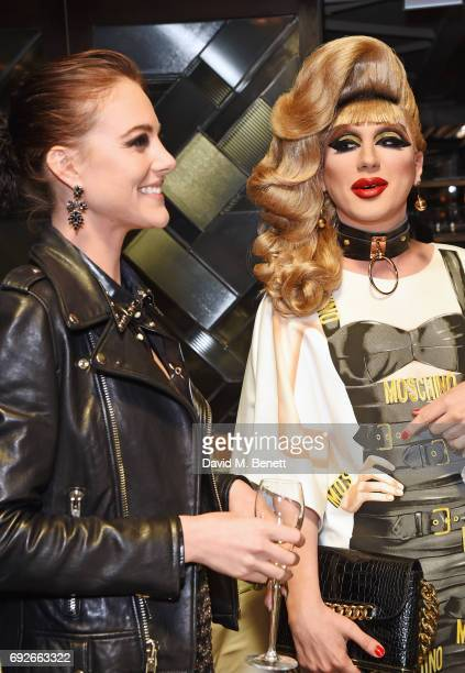 Eliza Cummings and Jodie Harsh attend the Wonderland Summer Issue dinner hosted by Madison Beer at The Ivy Soho Brasserie on June 5 2017 in London...