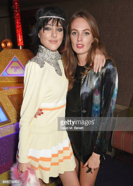 Eliza Cummings and Lady Alice Manners attend the LOVE magazine x Miu Miu party held during London Fashion Week at Loulou's on September 18 2017 in...