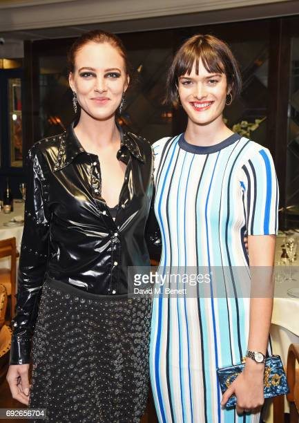 Eliza Cummings and Sam Rollinson attend the Wonderland Summer Issue dinner hosted by Madison Beer at The Ivy Soho Brasserie on June 5 2017 in London...
