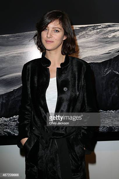 Eliza Cummings attends as Moncler Hosts Private View Of 'Monuments' Exhibition With Leica at Sotheby's on October 14 2014 in London England