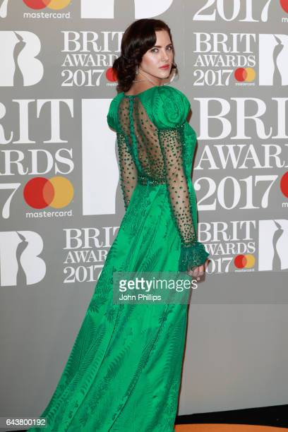 Eliza Cummings attends The BRIT Awards 2017 at The O2 Arena on February 22 2017 in London England