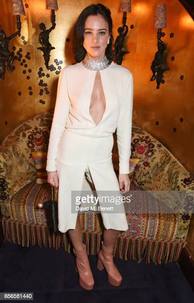 Eliza Cummings attends the Edie Campbell and Kurt Geiger Flash dinner at Loulou's on March 22 2017 in London England