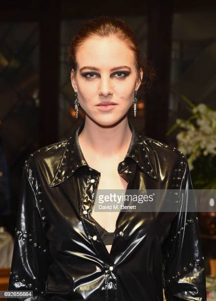 Eliza Cummings attends the Wonderland Summer Issue dinner hosted by Madison Beer at The Ivy Soho Brasserie on June 5 2017 in London England