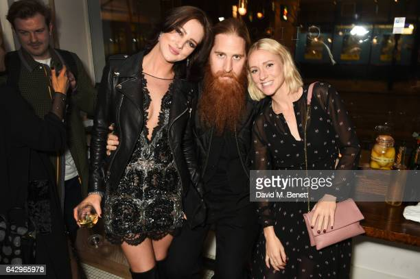 Eliza Cummings Duffy and Lynsey Alexander arrive as Topshop and Leandra Medine host dinner to celebrate London Fashion Week on February 19 2017 in...