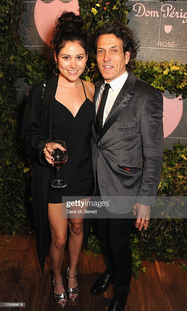 Eliza Dolittle and Stephen Webster attend the Dom Perignon Rose 2002 Dark Jewel launch with Stephen Webster at The Connaught Hotel on June 12, 2013 in London, England.
