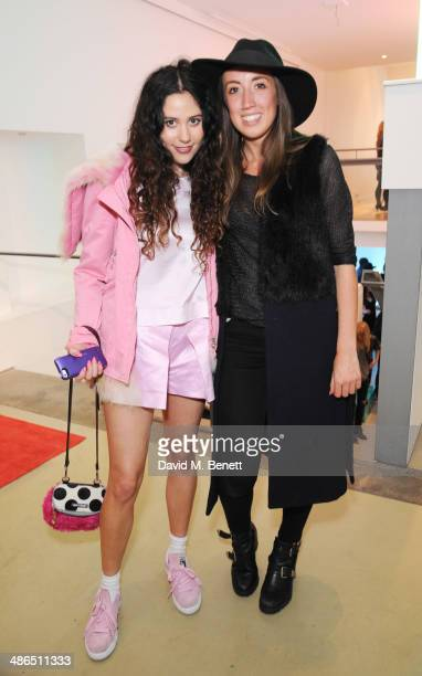 Eliza Doolittle and Harley Moon Kemp attend the Beats by Dr Dre Drenched in Colour nail event on April 24 2014 in London England