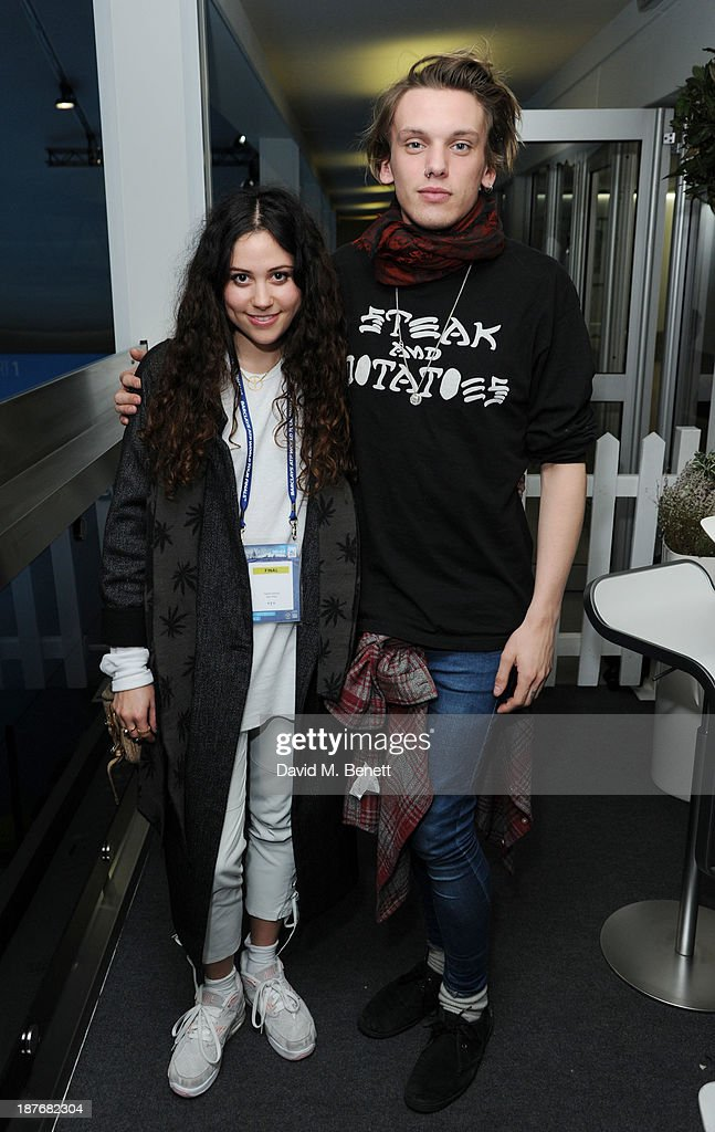 Eliza Doolittle and Jamie Campbell Bower attend the Lacoste VIP lounge at ATP World Finals 2013 at 02 Arena on November 11, 2013 in London, England.