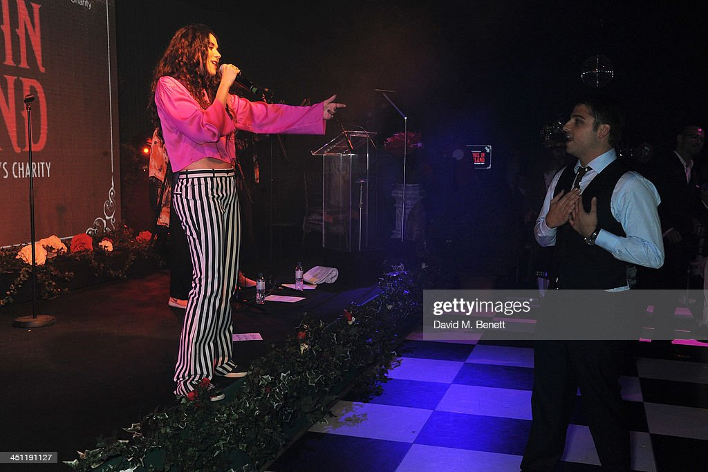 Eliza Doolittle and Jamie Reuben attend the Adventure in Wonderland Ball held by The Reuben Foundation in aid of Great Ormond Street Hospital...