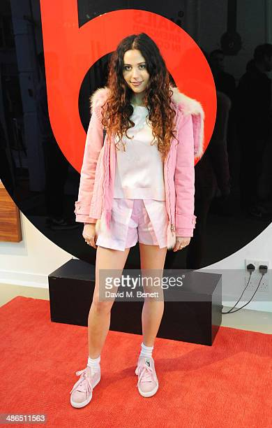 Eliza Doolittle attends the Beats by Dr Dre Drenched in Colour nail event on April 24 2014 in London England