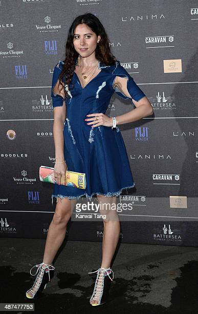 Eliza Doolittle attends the inaugural Battersea Power Station annual party held at Battersea Power station on April 30 2014 in London England
