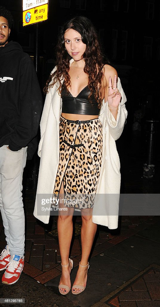 Eliza Doolittle sighting in London on January 7, 2014 in London, England.