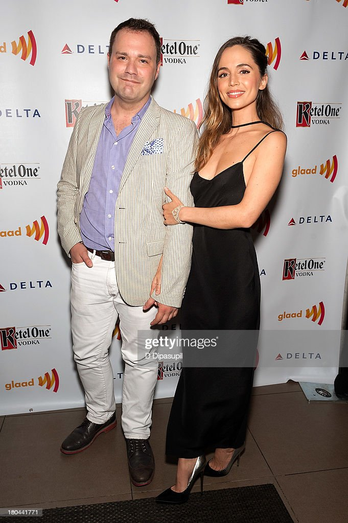 <a gi-track='captionPersonalityLinkClicked' href=/galleries/search?phrase=Eliza+Dushku&family=editorial&specificpeople=209091 ng-click='$event.stopPropagation()'>Eliza Dushku</a> (R) and guest attend the GLAAD Manhattan Summer 2013 Benefit at Gansevoort Park Avenue on September 12, 2013 in New York City.