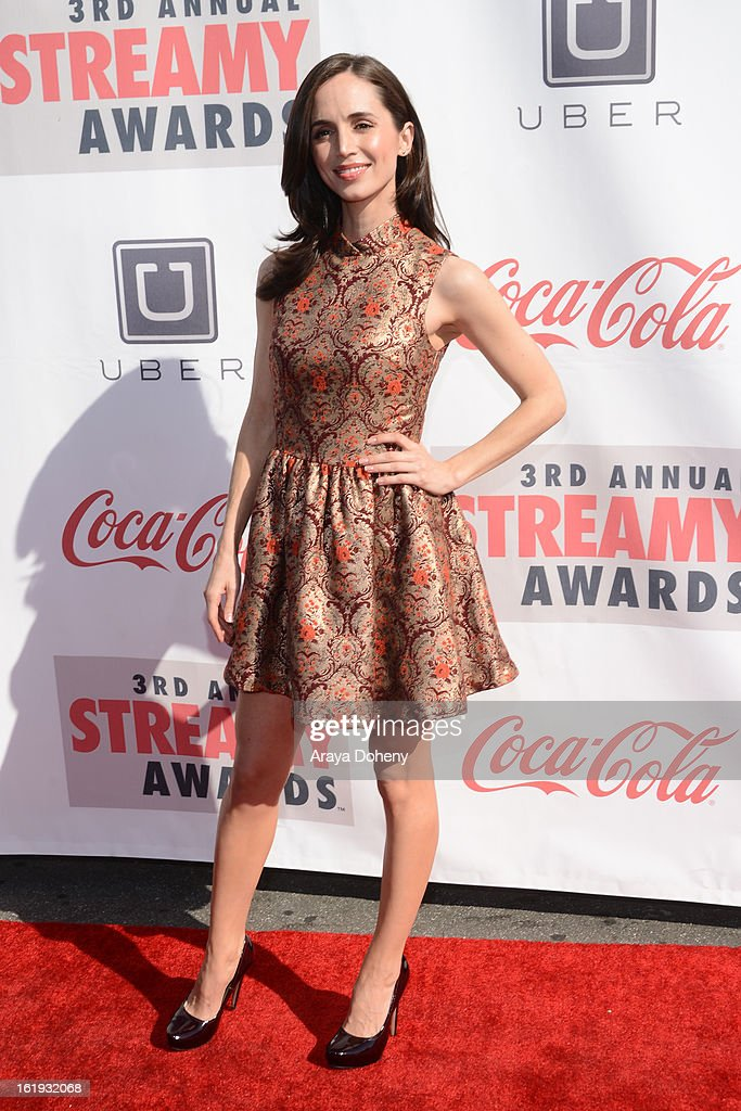 Eliza Dushku arrives at the 3rd Annual Streamy Awards at The Hollywood Palladium on February 17, 2013 in Los Angeles, California.