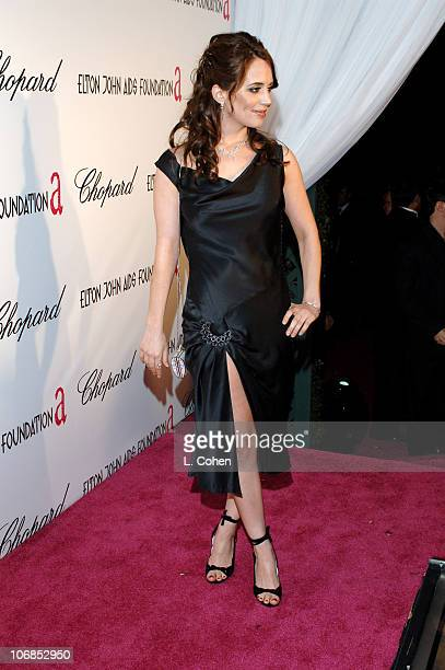 Eliza Dushku during 13th Annual Elton John AIDS Foundation Oscar Party Cohosted by Chopard Red Carpet at Pacific Design Center in West Hollywood...