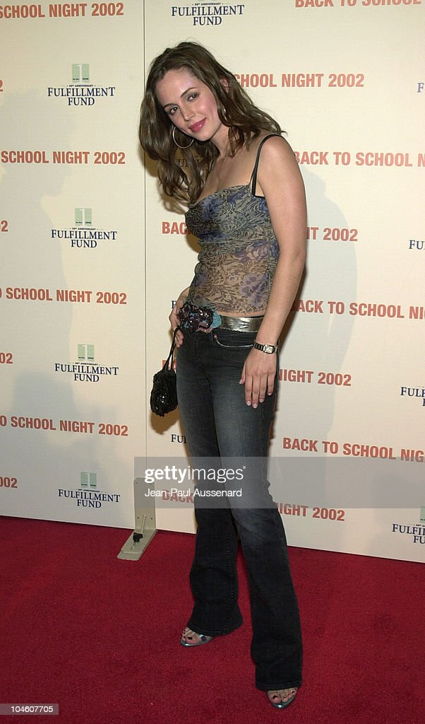<a gi-track='captionPersonalityLinkClicked' href=/galleries/search?phrase=Eliza+Dushku&family=editorial&specificpeople=209091 ng-click='$event.stopPropagation()'>Eliza Dushku</a> during Fulfillment Fund's 3rd Annual 'Back to School Night' at Jim Henson Studios in Los Angeles, California, United States.