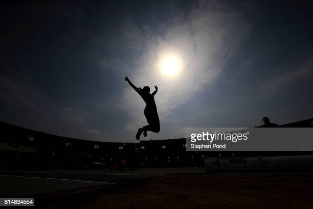 Eliza Marija Kraule of Latvia in action during the long jump in the girls heptathlon on day four of the IAAF U18 World Championships at the Kasarani...