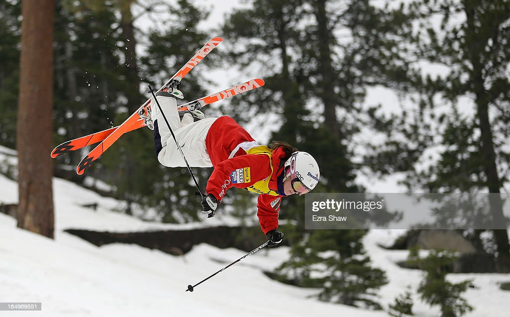 Eliza Outtrim competes in the Ladie's Moguls at the U.S. Freestyle Moguls National Championship at Heavenly Resort on March 29, 2013 in South Lake Tahoe, California. Outtrim finished in third place.