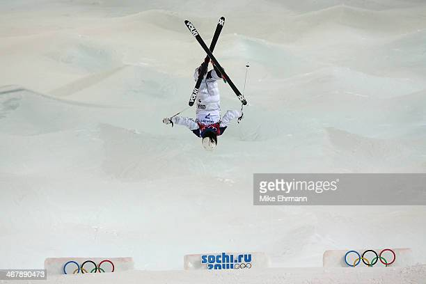 Eliza Outtrim of the United States competes in the Ladies' Moguls Final 1 on day one of the Sochi 2014 Winter Olympics at Rosa Khutor Extreme Park on...