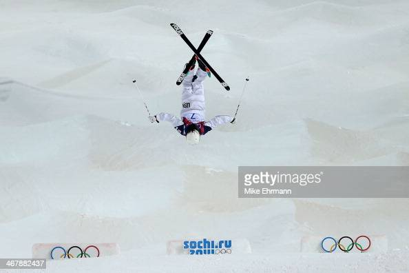 Eliza Outtrim of the United States competes in the Ladies' Moguls Final 2 on day one of the Sochi 2014 Winter Olympics at Rosa Khutor Extreme Park on...