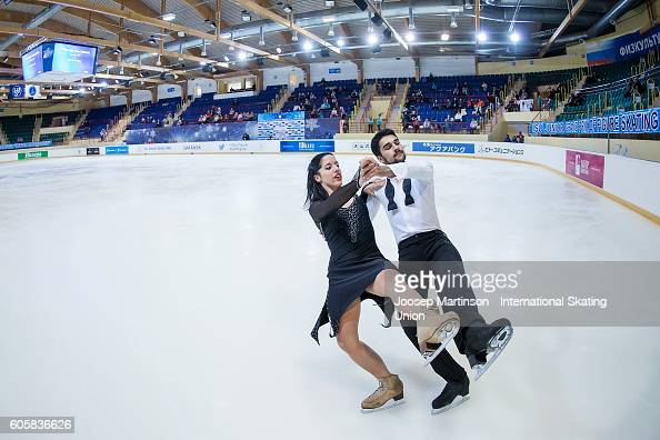Eliza Saez and Yann Thayalan of Poland compete during the Junior Ice Dance Free Dance on day one of the ISU Junior Grand Prix of Figure Skating...