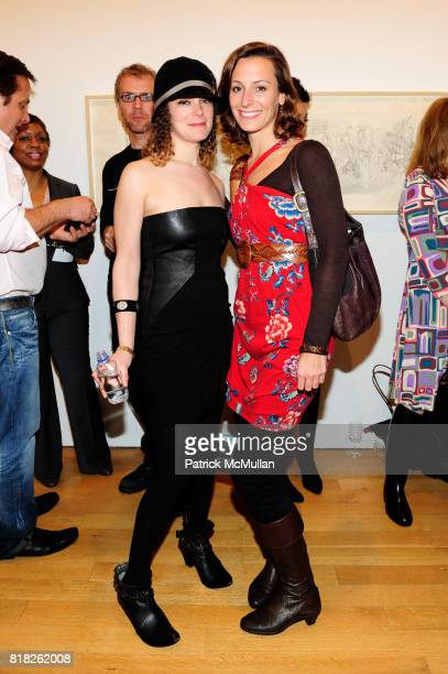 Eliza Stamp and Sarah Landy attend NYFA 2010 ANNUAL BENEFIT at James Cohan Gallery on February 25 2010 in New York City