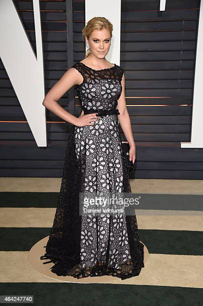 Eliza Taylor attends 2015 Vanity Fair Oscar Party Hosted By Graydon Carter at Wallis Annenberg Center for the Performing Arts on February 22 2015 in...