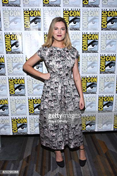 Eliza Taylor attends The 100 press conference at ComicCon International 2017 on July 21 2017 in San Diego California