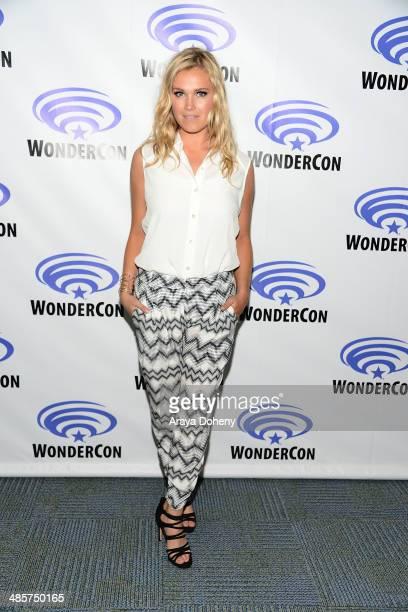 Eliza Taylor attends The 100 press line at WonderCon Anaheim 2014 Day 2 at Anaheim Convention Center on April 19 2014 in Anaheim California