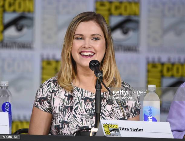 Eliza Taylor speaks onstage at ComicCon International 2017 'The 100' panel at San Diego Convention Center on July 21 2017 in San Diego California