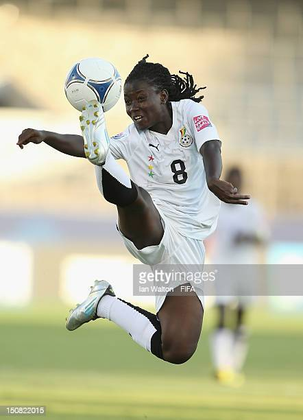 Elizabeth Addo of Ghana controls the ball during the FIFA U20 Women's World Cup Japan 2012 Group D match between China v Ghana at Komaba Stadium on...