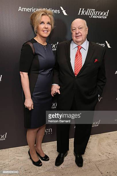 Elizabeth Ailes and Roger Ailes attend 'The 35 Most Powerful People In Media' celebrated by The Hollywoood Reporter at Four Seasons Restaurant on...