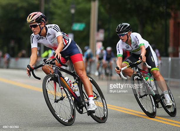 Elizabeth Armitstead of Great Britain in action during the Elite Women's Road Race on day seven of the UCI Road World Championships on September 26...