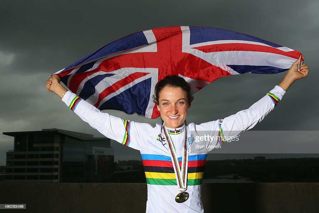 Elizabeth Armitstead of Great Britain poses for a photo after winning the Elite Women's World Road Race Championship on September 27, 2015 in Richmond, Virginia.