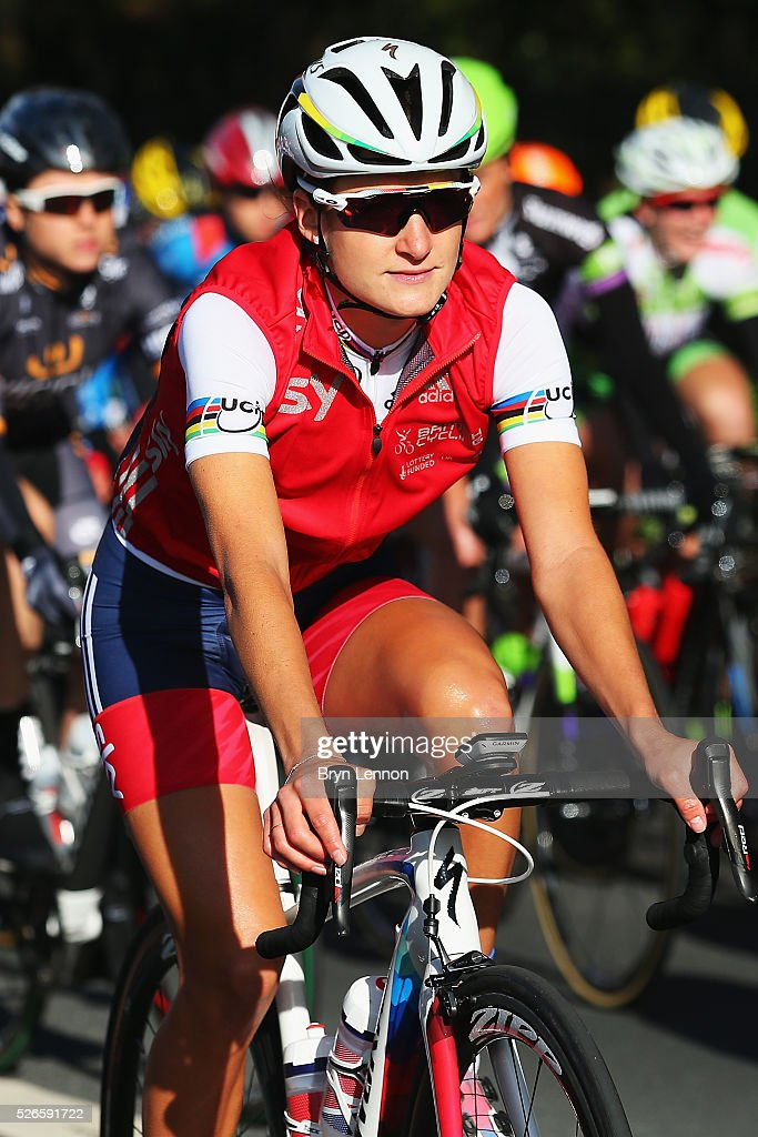 Elizabeth Armitstead of Great Britain rides in the inaugural Women's Tour de Yorkshire between Otley and Doncaster on April 30, 2016 in Doncaster, England.