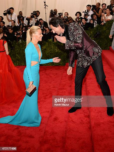Elizabeth Banks and Adrien Brody attend the 'China Through The Looking Glass' Costume Institute Benefit Gala at Metropolitan Museum of Art on May 4...