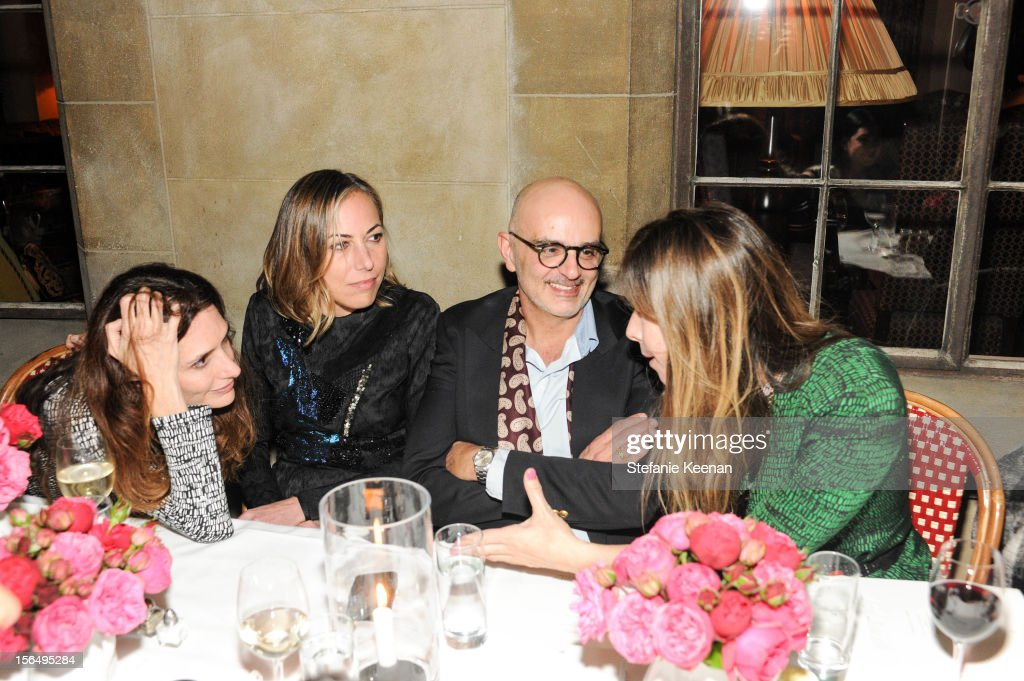 Elizabeth Banks, Angelique Soave, Patrik Milani and Irene Neuwirth attend Juan Carlos Obando Jewelry Collection Launch Dinner at Chateau Marmont on November 15, 2012 in Los Angeles, California.