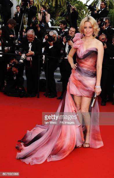 Elizabeth Banks arrives for the premiere of Poetry at the Palais de Festival in Cannes France
