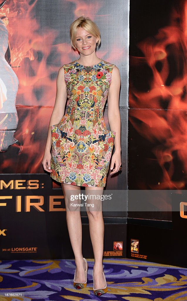 <a gi-track='captionPersonalityLinkClicked' href=/galleries/search?phrase=Elizabeth+Banks&family=editorial&specificpeople=202475 ng-click='$event.stopPropagation()'>Elizabeth Banks</a> attends a photocall for 'The Hunger Games: Catching Fire' held at the Corinthia Hotel on November 11, 2013 in London, England.