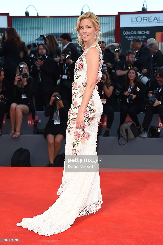 Elizabeth Banks attends a premiere for 'A Bigger Splash' during the 72nd Venice Film Festival at Sala Grande on September 6 2015 in Venice Italy