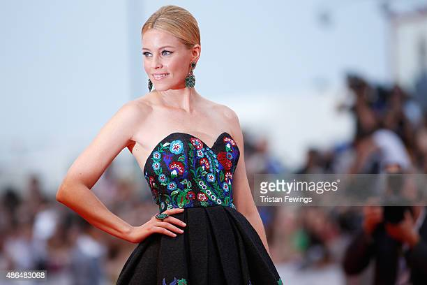 Elizabeth Banks attends a premiere for 'Black Mass' during the 72nd Venice Film Festival at on September 4 2015 in Venice Italy
