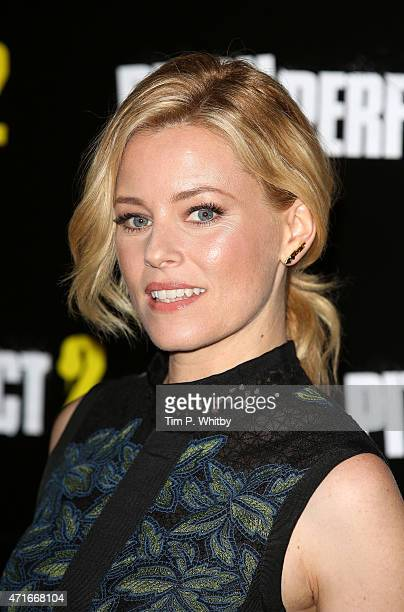 Elizabeth Banks attends a VIP screening of 'Pitch Perfect 2' at The Mayfair Hotel on April 30 2015 in London England