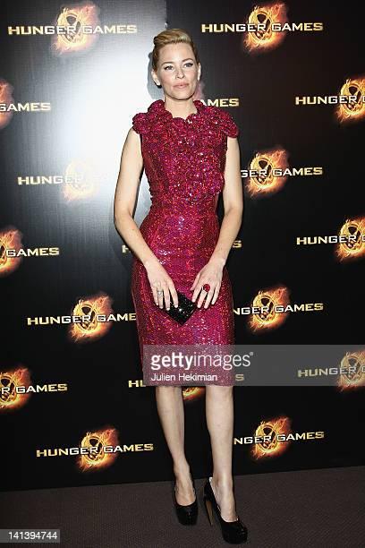 Elizabeth Banks attends 'Hunger Games' Paris premiere at Cinema Gaumont Marignan on March 15 2012 in Paris France